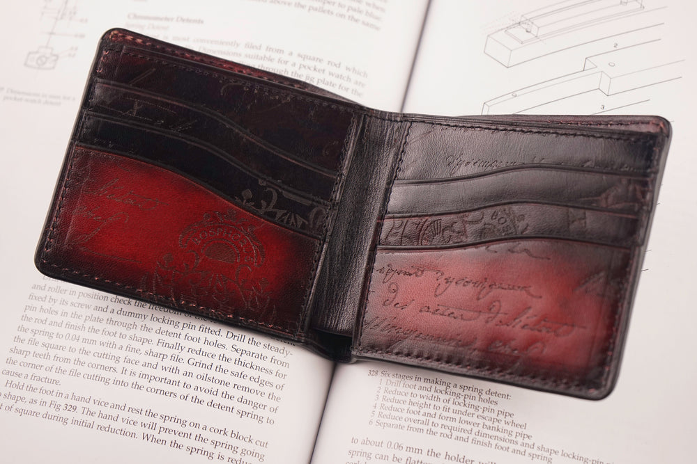 Leather Patina Red-Green Wallet