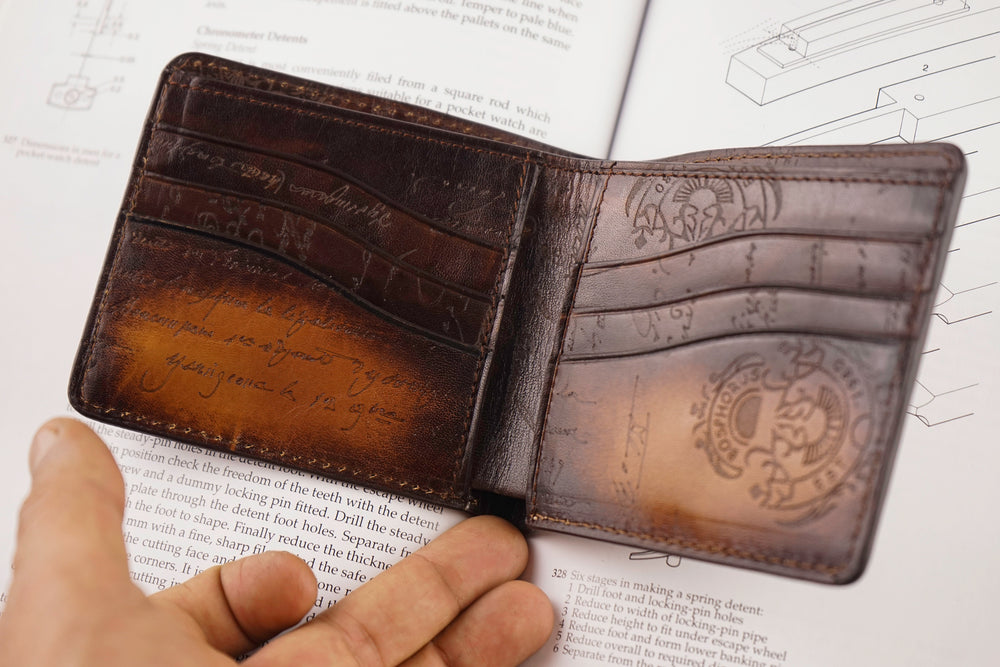 Bosphorus Leather Patina Light Tan Wallet