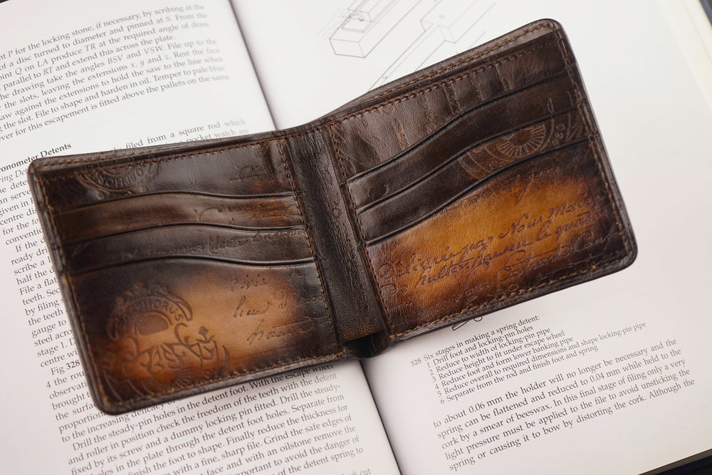 Leather Patina Light Tan Wallet with Removable Card Holder
