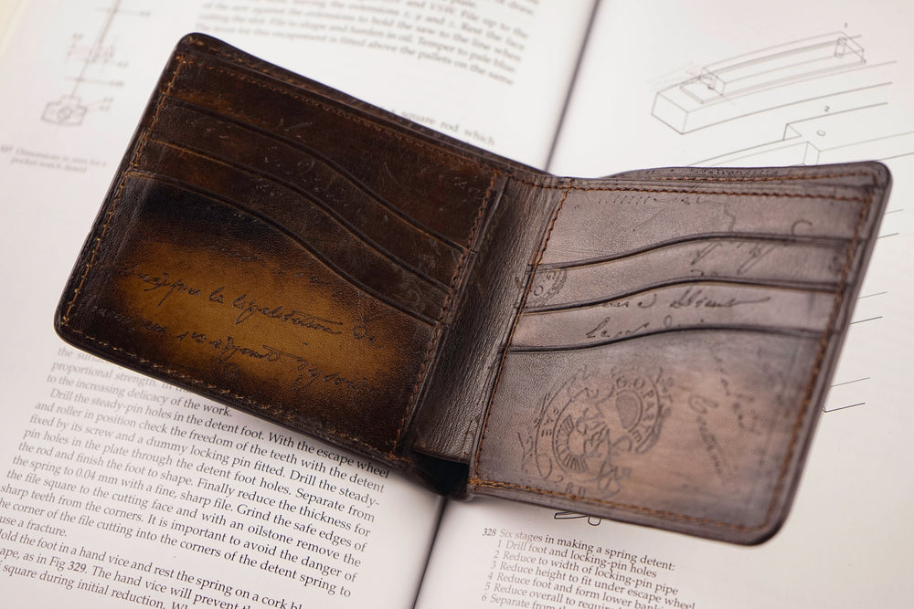 Leather Patina Tan Wallet with Removable Card Holder