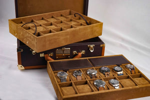 Watch Trunk - Saffiano Brown for 30 Watches