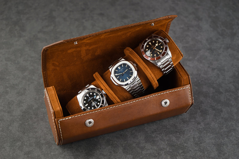 Hexagon Watch Roll - Montana 01 for Three Watches
