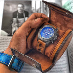 Galata Watch Roll - Scripto Patina Light Tan for One Watch