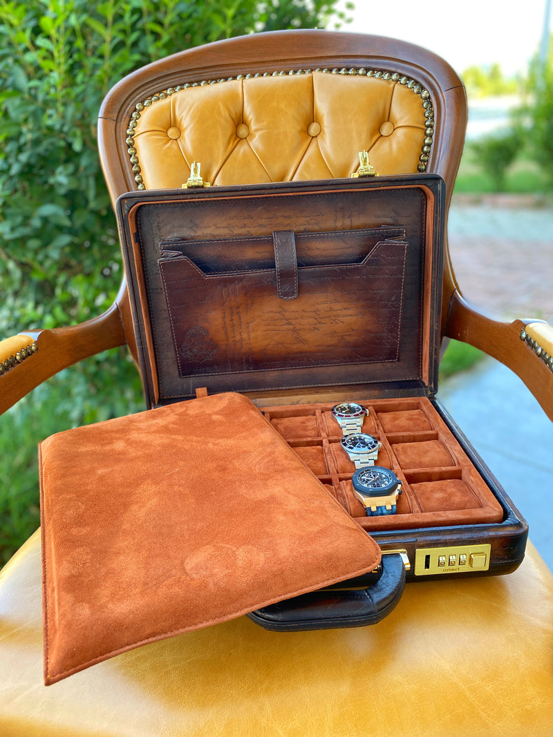 Watch Collector Case - Scripto Patina Light Tan