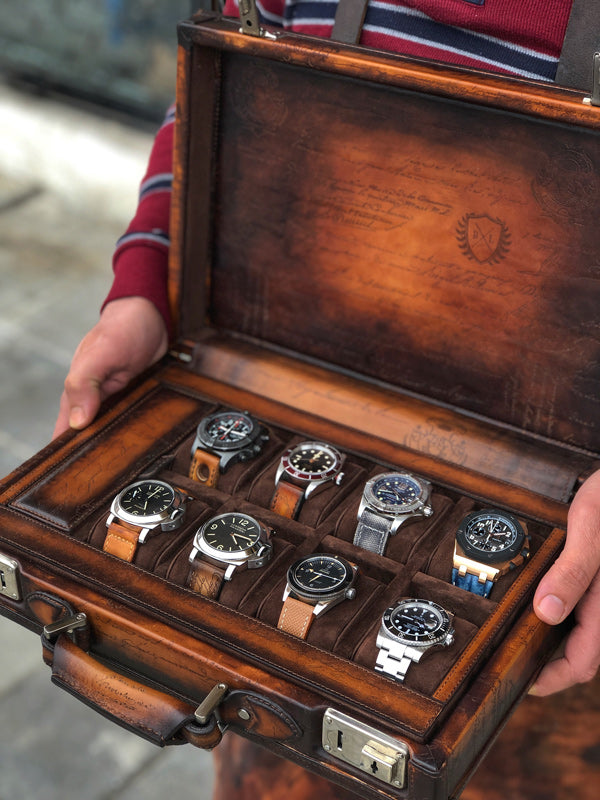 Watch Collector Case - Master Edition for 8 Watches with Pocket