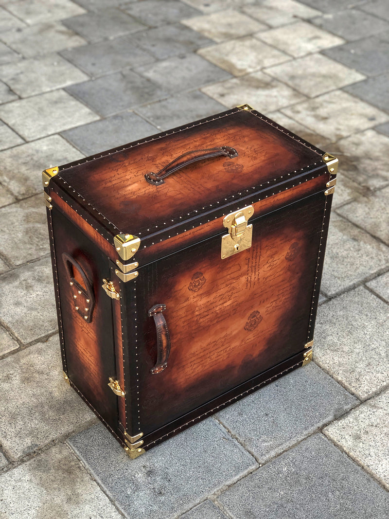Bosphorus Leather Scripto Patina  Winder Trunk