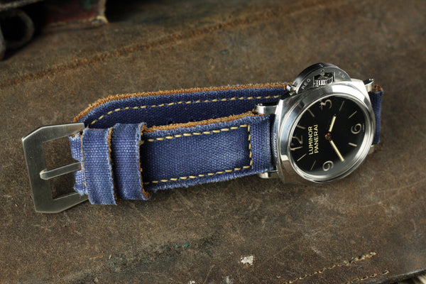 Bosphorus Watch Strap - Canvas Patina Blue
