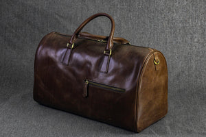 Bosphorus Leather Duffle Bag - Dark Brown