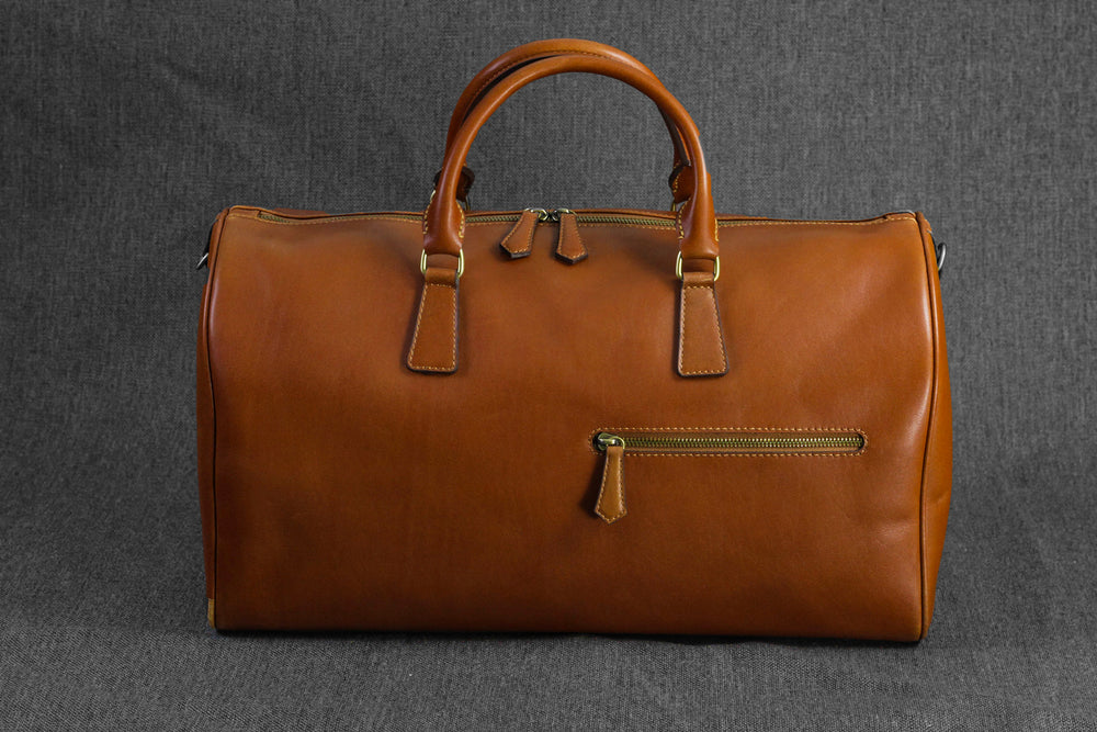 Bosphorus Leather Duffle Bag - British Brown