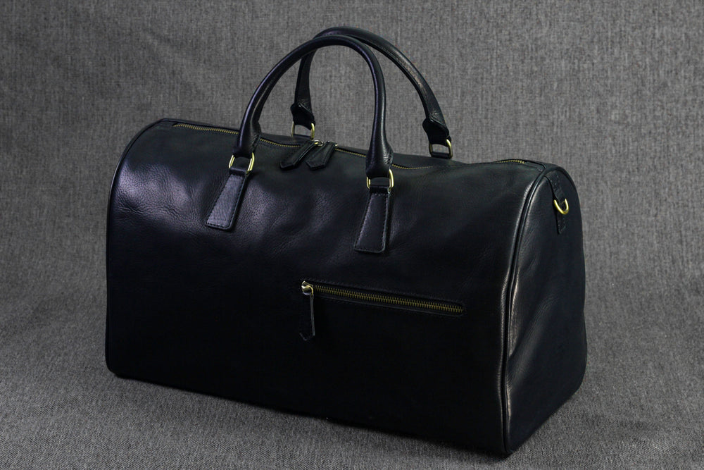 Bosphorus Leather Duffle Bag - Black