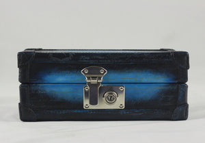 Petra Watch Case for 3 Watches - Scripto Patina Blue