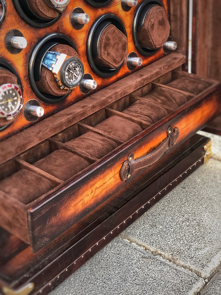 Bosphorus Leather Scripto Patina  Winder Trunk - Free Shipping Worldwide