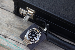 Watch Collector Case - Saffiano Black for 10 or 15 Watches