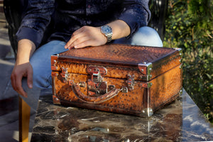 Watch Trunk - Ostrich Patina Brown