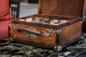 Watch Trunk - Ostrich Patina Brown for 25 Watches