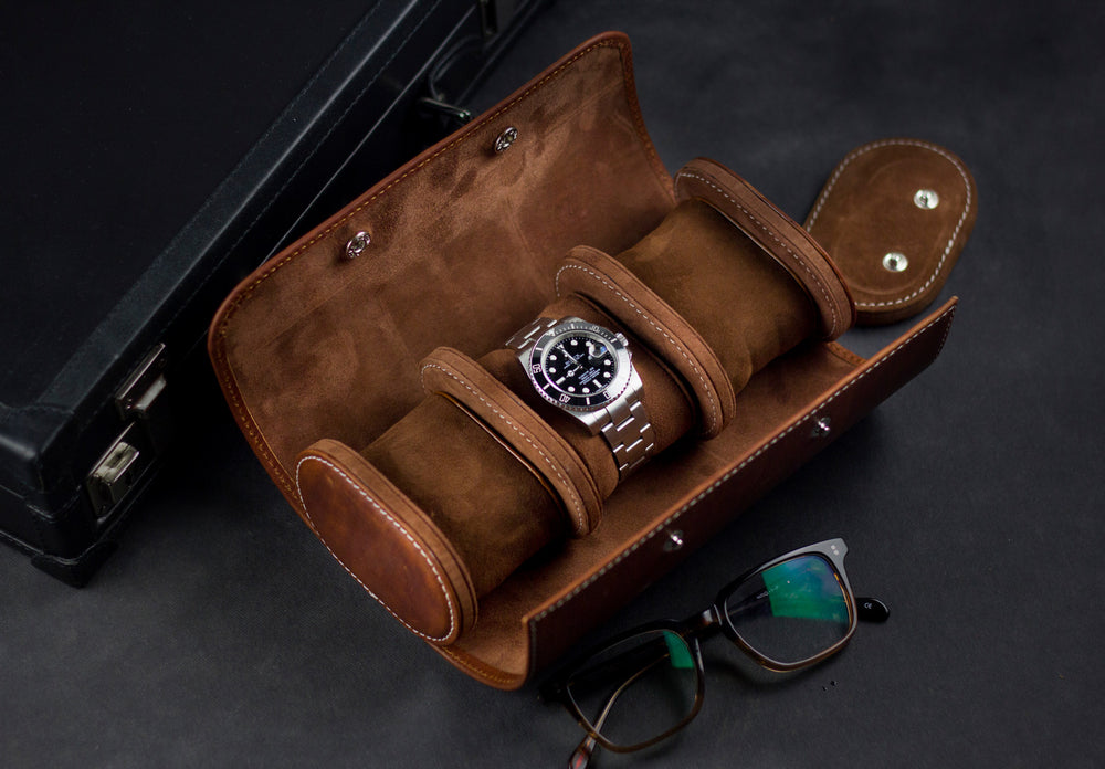 Galata Watch Roll - Montana 01 for Three Watches