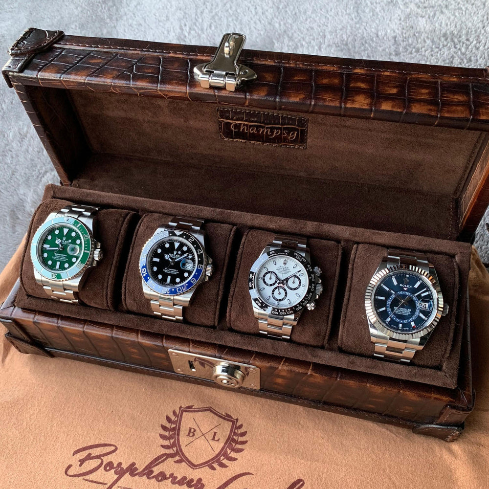 Petra Watch Case for 4 Watches - CP Brown