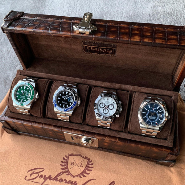 Petra Watch Case for Four Watches - CP Brown