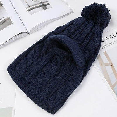 Warm Neck Knit Hat