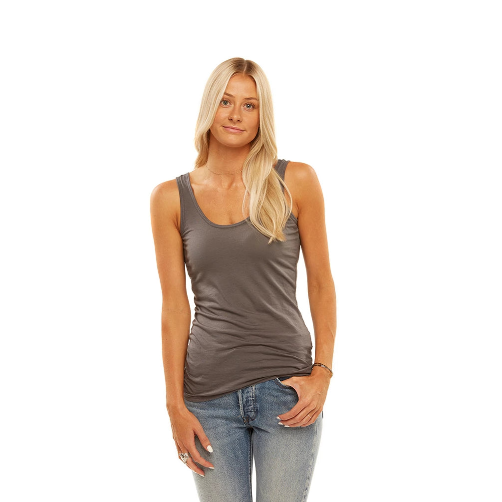 Tuesday Layering Tank Top Smoked Pearl
