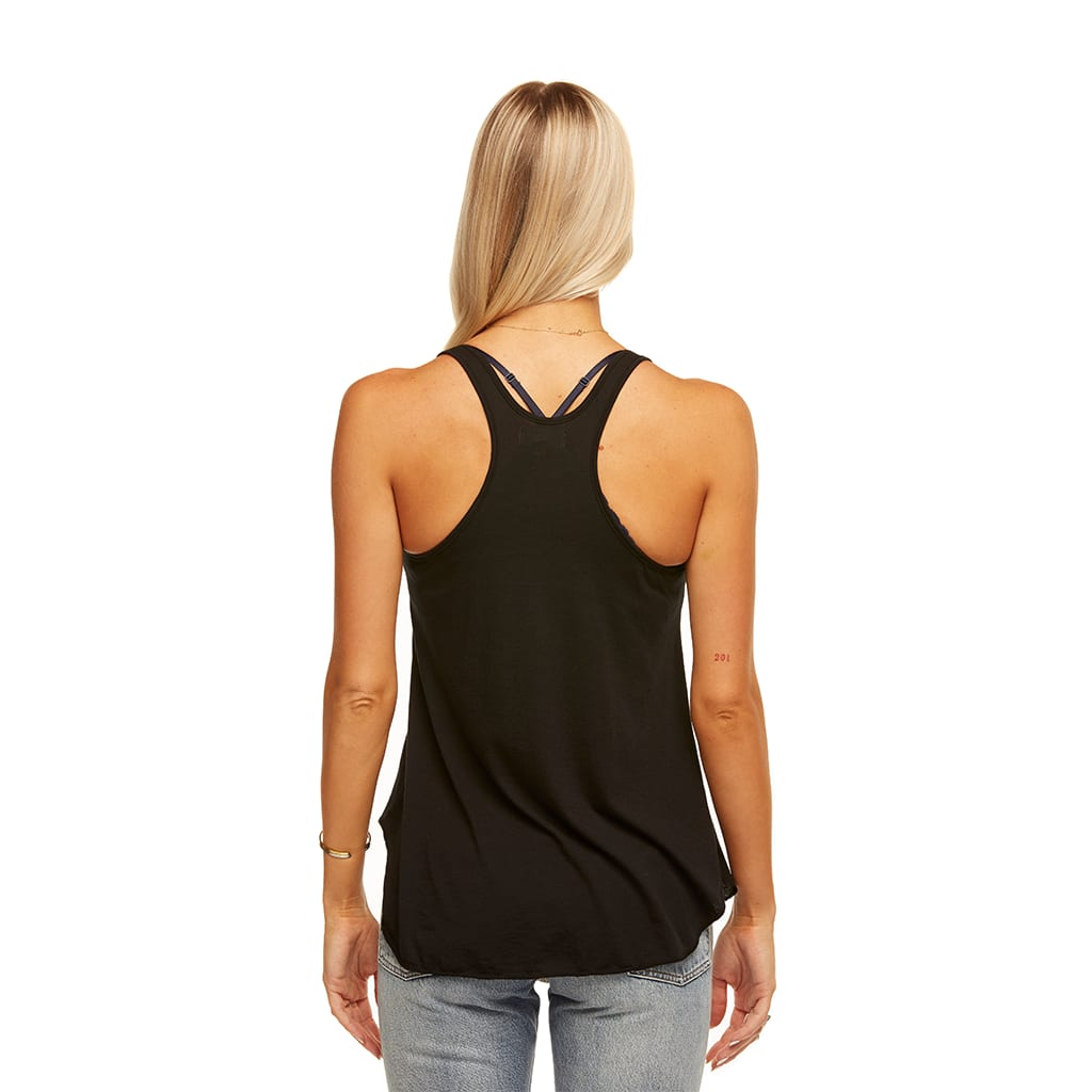 Friday Racer Back Tank In Black