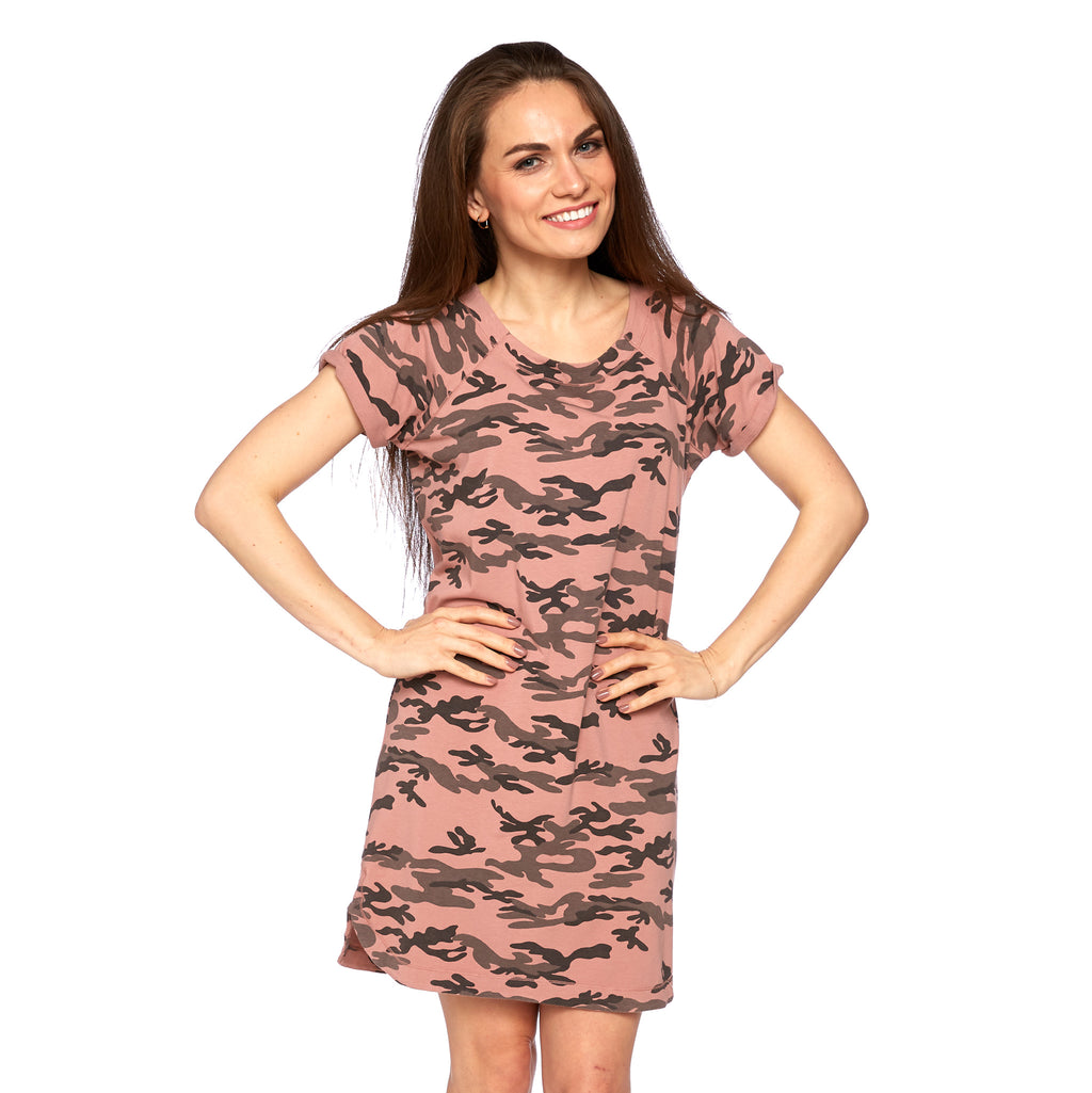 Kismet Dress in Old Rose Camo