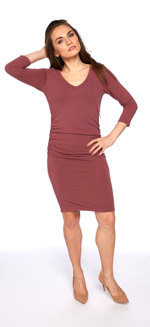 Julie Dress in Velvet Plum