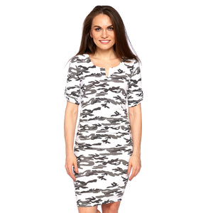 Tamarind Dress in White Camo