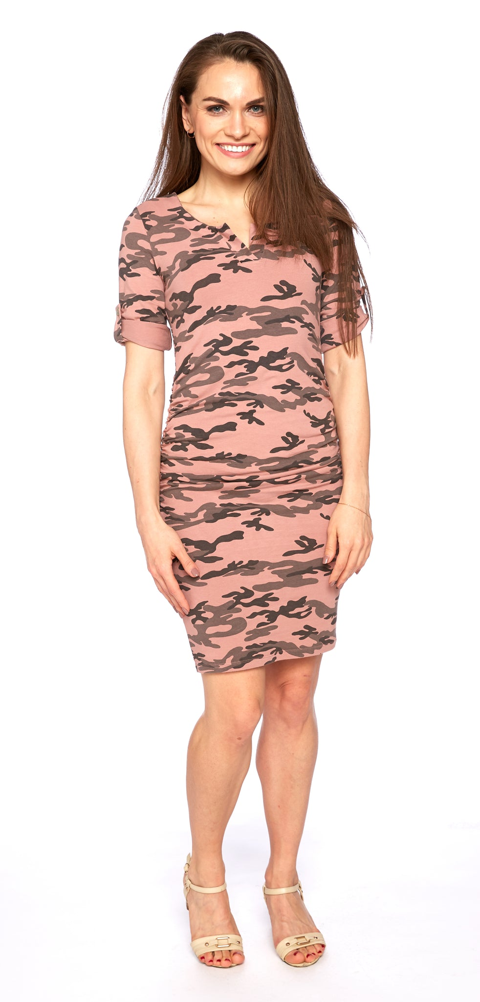Tamarind Dress in Old Rose Camo