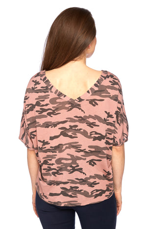 Viva Tee in Old Rose Camo