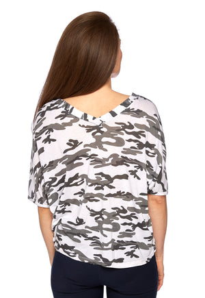 Viva Tee in Black and White Camo