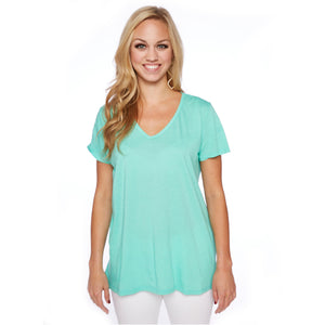 Sunday Boyfriend Tee in Electric Green