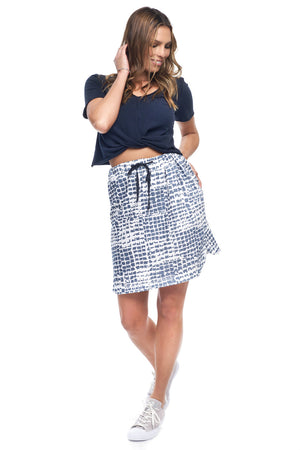 Savvy Skirt in Blue Crocodile
