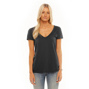 Cruz Deep V Boyfriend Tee in Black