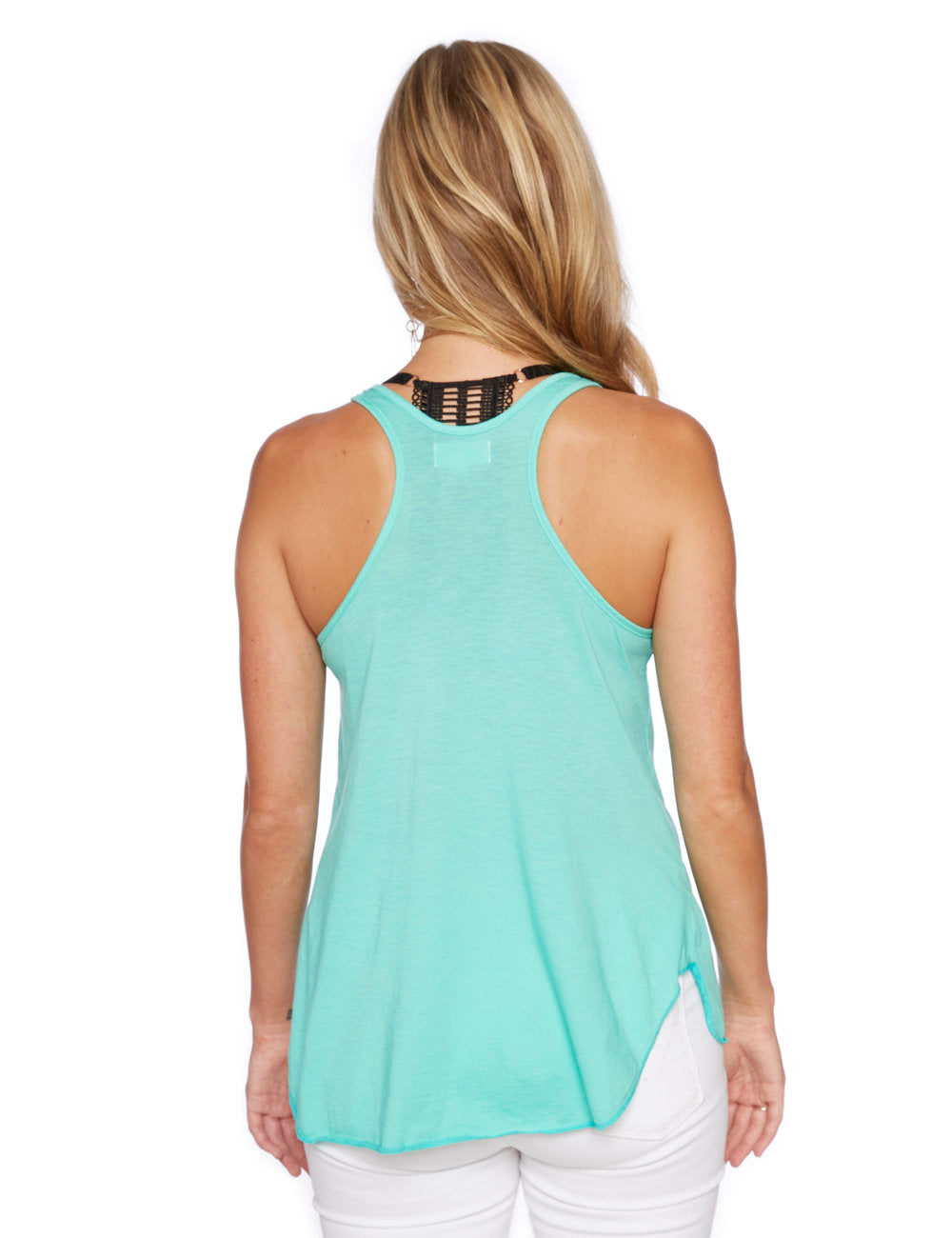 Friday Racerback Tank in Electric Green