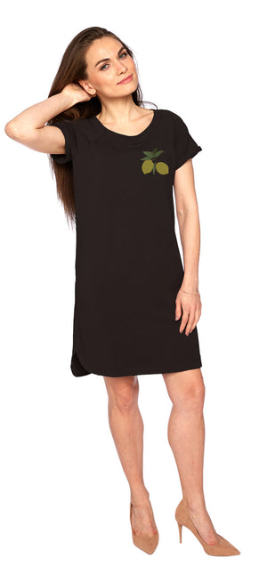 Kismet Dress in Black/Lemons
