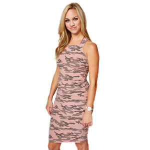 Runway Dress in Old Rose Camo