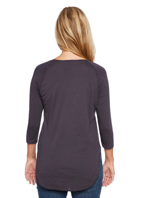 Saturday 3/4 Sleeve Raglan in Lady Navy