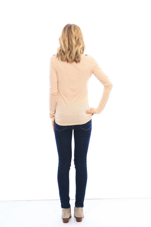 Saturday 3/4 Sleeve Raglan in Rose Dust