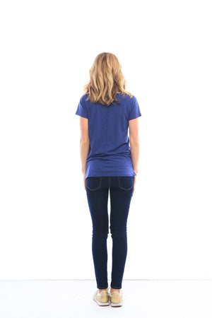 Sunday Boyfriend Tee in Blue Depths