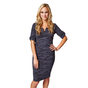 Tamarind Dress in Lady Navy Camo