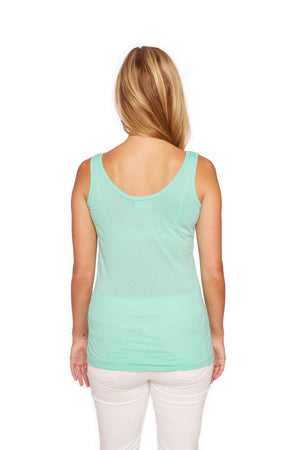 Tuesday Scoopneck Tank in Electric Green