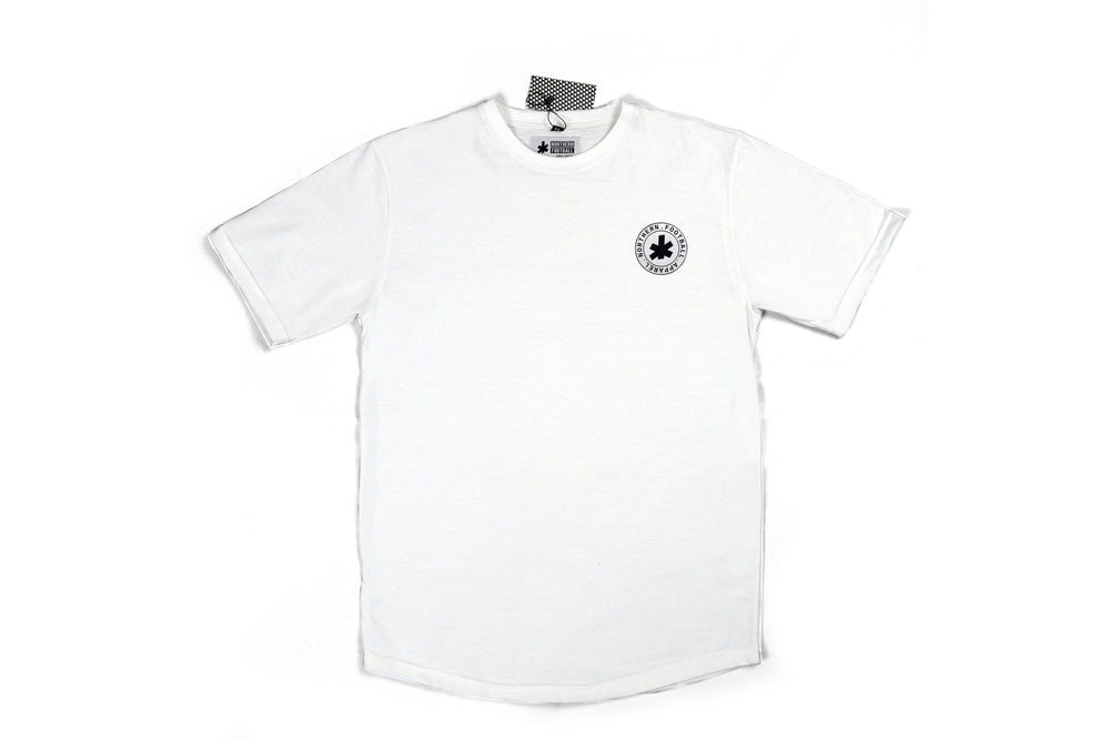 White Scooped Classic Football Shirt (NFA Silicone Roundel)