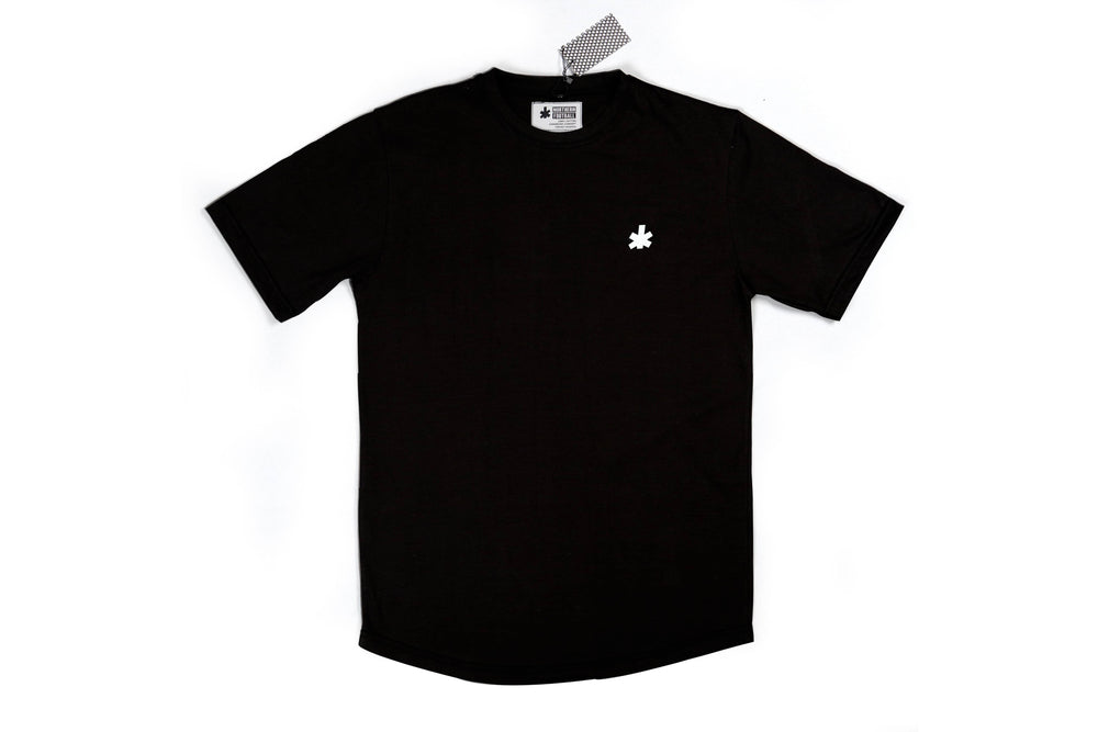 Black Scooped Classic Football Shirt (NFA Silicone Block Leaf)