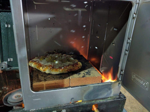 Pizza in Coleman Camping Oven