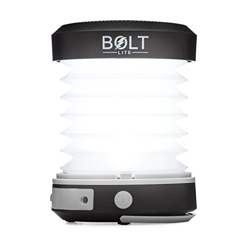 Solar Collapsible, Rechargeable LED Lantern with Built In Power Bank