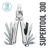 LEATHERMAN - Super Tool 300 Multitool with Premium Replaceable Wire Cutters and Saw, Stainless Steel with Leather Sheath