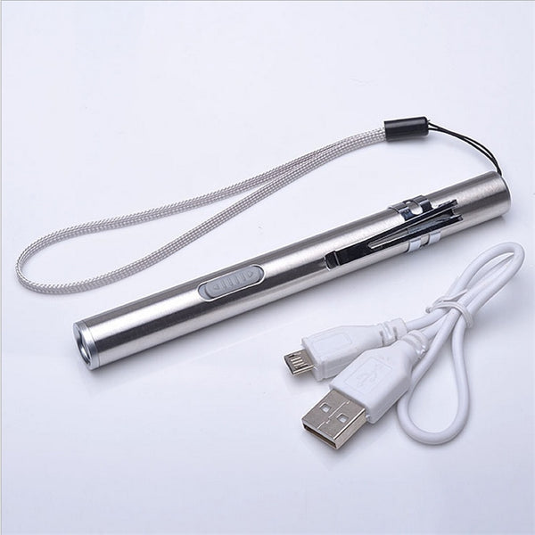 USB Rechargeable LED Pen Flashlight