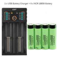 3.7V 3400mAh 18650 Rechargeable Battery with Charger