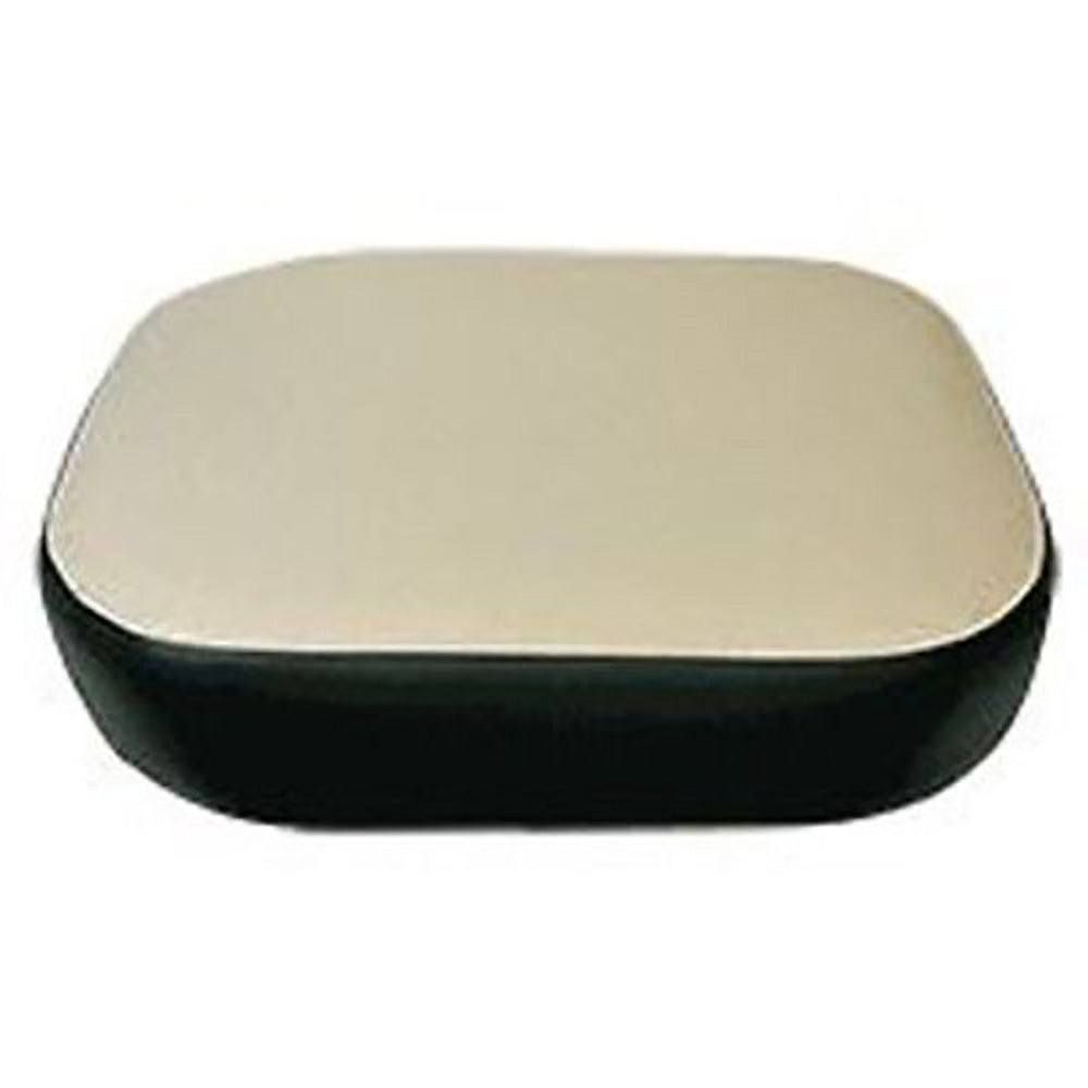102B White & Green Seat Cushion